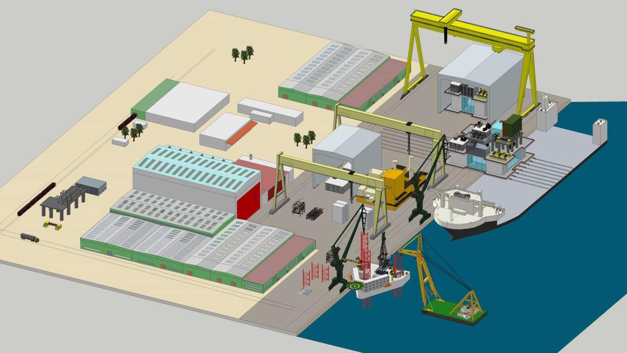 Shipyard Factory Planning Img Ingenieurtechnik Und